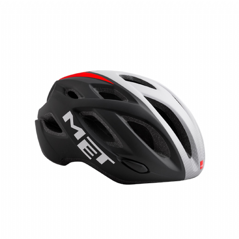 Helmet MET Idolo - Black Shaded White Red Matt